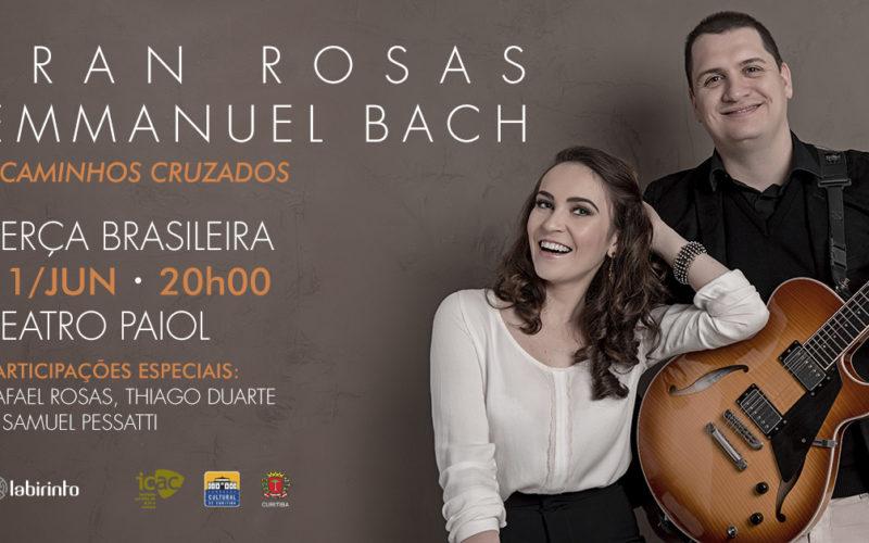 Show Fran Rosas e Emmanuel Bach - Teatro Paiol
